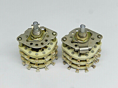 Ceramic Rotary Switches 9 Pole 3 Positions Lot Of 2pcs