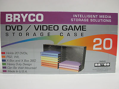 BRYCO Dvd Rack Storage For Nintendo Wii Game Case Games