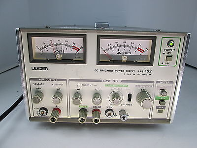 Leader Lps-152 Dc Tracking Power Supply 0-6v0-5a 0-250-1a Sn 5030228