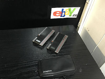 2 x Dictaphone 1254 Handheld Portable Microcassette Recorder~PARTS AND REPAIR