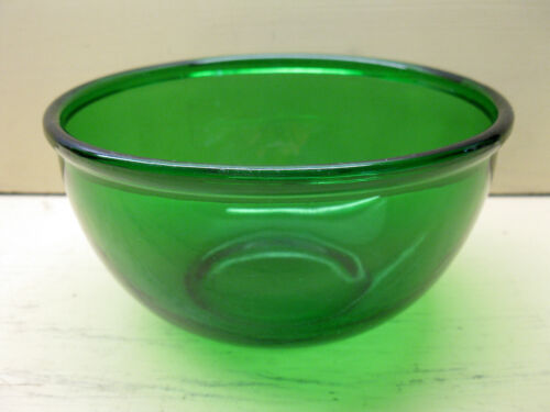 """Vintage Anchor Hocking FOREST GREEN 6"""" Mixing Bowl 1 QT. Excellent Condition"""