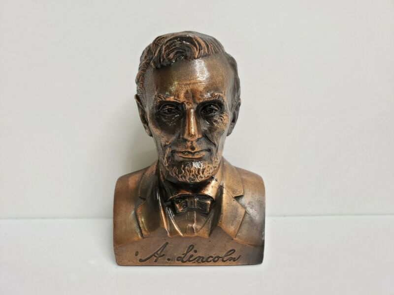Banthrico Abraham Lincoln Bronze Bust Bank Lincoln First Federal Savings & Loan
