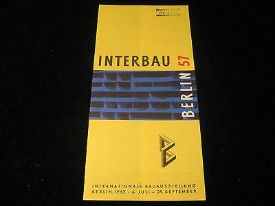 Altes Faltprospekt Interbau Berlin 1957 Internationale Bauausstellung Berlin RAR