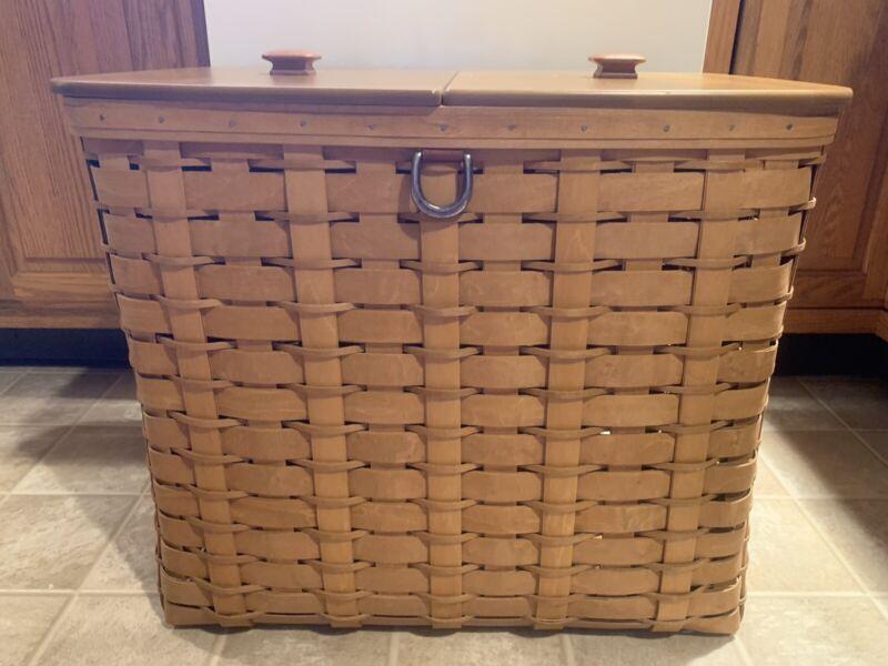 Longaberger Recycle / Storage Bin Basket - RARE