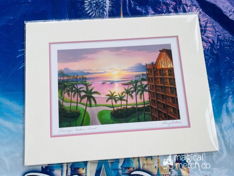 "NEW Disney Parks AULANI RESORT Larry Dotson 11x14"" Matted Print"