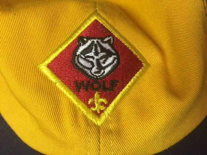 Boy Scouts of America Cub Scout Wolf Adjustable Hat Youth M/L Barely Used Nice