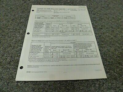 Link Belt Fmc Hc-238b Crane W Open Throat Boom Lifting Capacities Manual