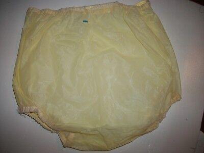 Vintage Pair of Baby Diaper Pants Butter Yellow Plastic Large Vinyl 1950s Nice!