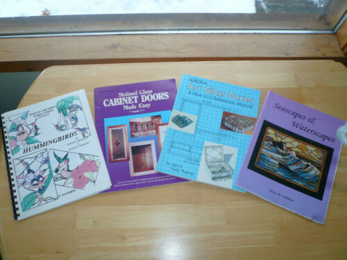 Stained Glass Cabinet Doors/Art glass Boxes/HummingBirds/Seascapes&Waterscapes