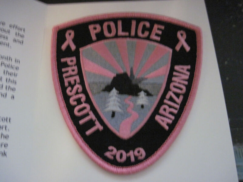 Prescott, Arizona Embroidered Pink Breast Cancer Awarness Police Patch