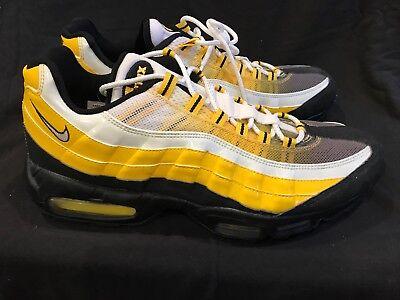 Brand New Rare Nike Air Max 95  Bumble Bee  Yellow Black White Sz 12 Steelers 97