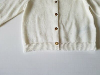 Toddler Girls Carters Little Collection White Sparkle Sweater Size 24 Months