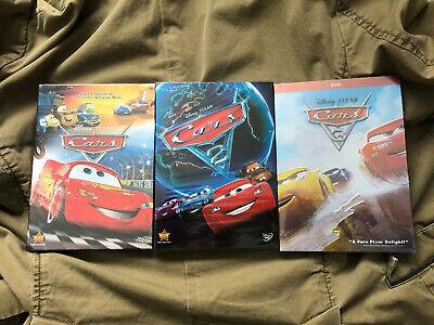 Cars 1-3 Trilogy Disney / Pixar Movie Bundle DVD Brand New Free Shipping