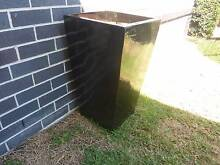 BRAND NEW LARGE BLACK OUTDOOR CERAMIC POT Beaumont Hills The Hills District Preview