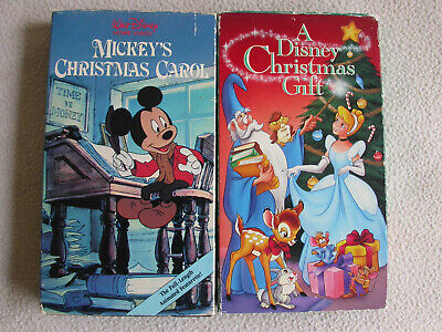 Walt Disney Home Video- A Disney Christmas Gift & Mickey's Christmas Carol VHS