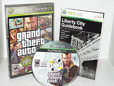 Grand Theft Auto Iv 4  Xbox 360          Nice      Free Ship