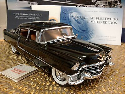 FRANKLIN MINT 1955 CADILLAC FLEETWOOD..1:24..RARE LE..UNDISPLAYED STUNNING..NEW