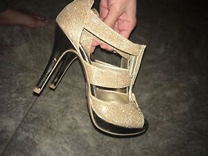 Heels Gold Sparkly