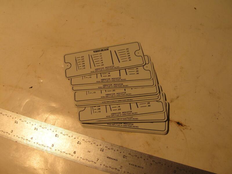 "13 pieces Vibroblock Indicator Plates, new, aluminum. 3.5"" x 1.5"""