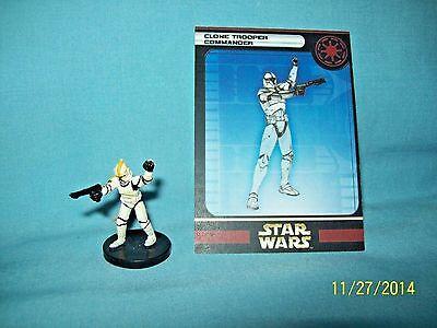 WotC Star Wars Miniatures Clone Trooper Commander, Clone Strike 08/60, Rep, Unc