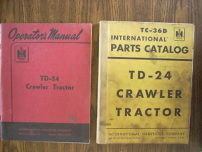 Ih Farmall Mccormick International Td24 Crawler Parts And Owners Manual