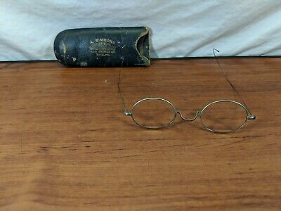 Vintage Oval Lens Thin  Wire Wrap Glasses Silver Ben Franklin
