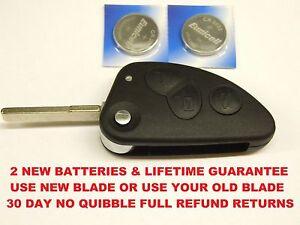 alfa romeo 147 156 166 3 button new remote key fob repair case blade battery ebay. Black Bedroom Furniture Sets. Home Design Ideas
