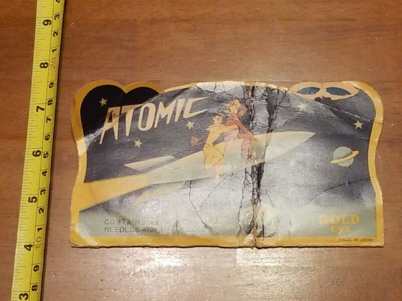 ATOMIC GOLD EYE NEEDLES SPACECRAFT SPACESHIP USED