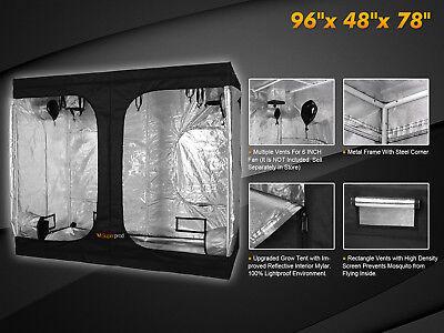 Hydroponic Indoor Grow Tent Growing Room 100% Reflective 600D Mylar Metal Corner