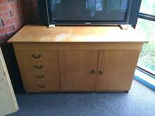 Sideboard buffet cabinet, cane hutch, filing cabinet and bookcase Templestowe Manningham Area Preview