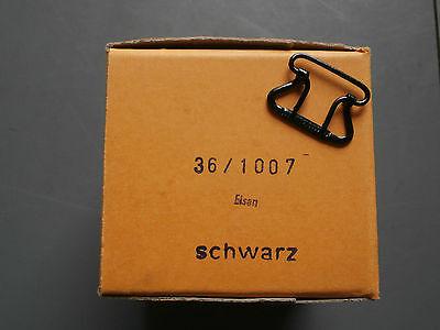 200 Stück Malakoff - Schnallen , schwarz , neu in OVP