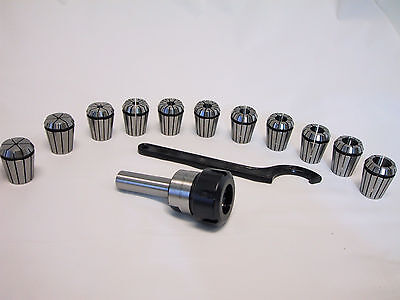 New List Sale 34 Straight Shank Er32 Chuck With 11 Pc Collets Set