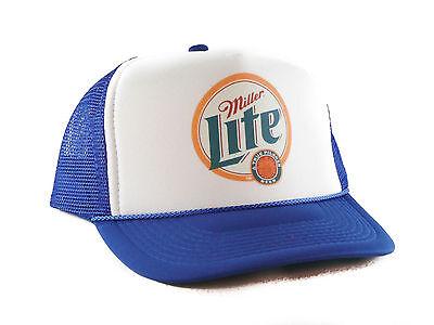 Miller Lite beer hat Trucker Hat mesh hat snapback hat royal new