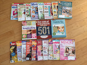 Scrapbooking books and magazines