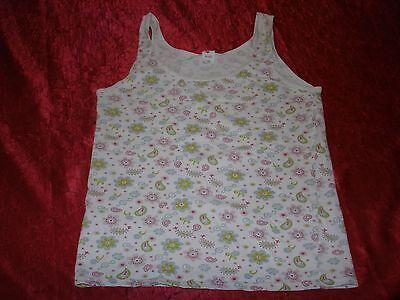 Unterhemd, Marke Kids, Gr.152, mit bunten Blumenmuster, Baumwolle, Elasthan, geb