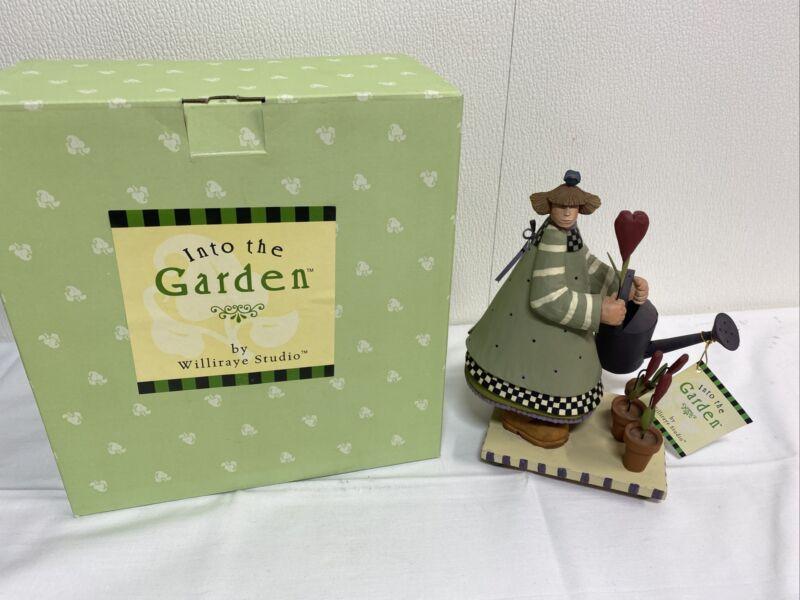 Williraye Studios LOVE GROWS WW7654 Into the Garden Girl w/Watering Can