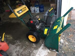Powerful 10.5 hp snowblower w steering assist and heated grips