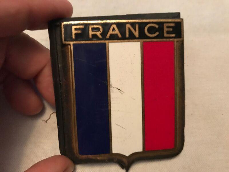 FRANCE Porcelain Vintage Auto Badge