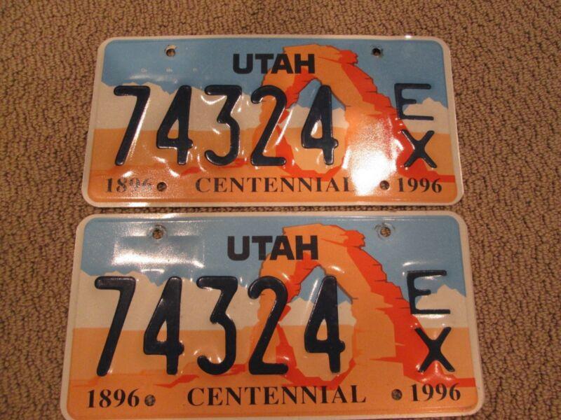 "Utah "" EX "" Law Enforcement license plates, PAIR, expired"