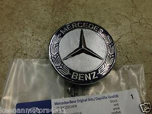 Genuine Oem Mercedes Benz Blue Flat Laurel Wreath Hood