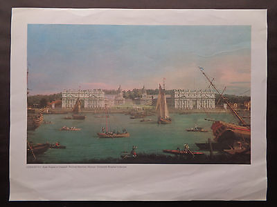 Print: Canaletto 'Royal Hospital at Greenwich'.