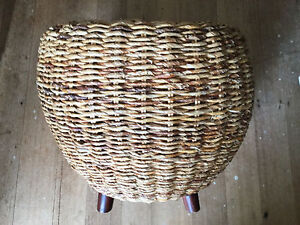 Rattan cane footstool, side table - Glen Iris, VIC Glen Iris Boroondara Area Preview