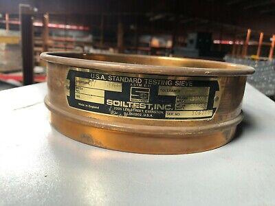 Soiltest 8 Diameter Usa Standard Testing Sieve Ins 1 12 Aperture 37.50 Mm
