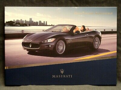 2008 MASERATI GRANTURISMO CONVERTIBLE ORIGINAL DEALER COLOR BROCHURE CATALOG