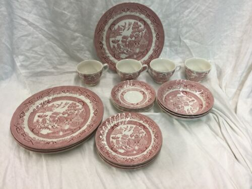 Royal Wessex Collection Willow Rosa Pink 15 Piece