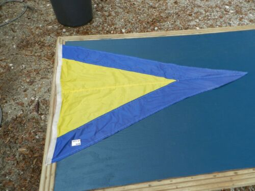 Vintage Big Ship Cloth Flag  PRIMO  2 1/2 ft X 3 1/2 ft