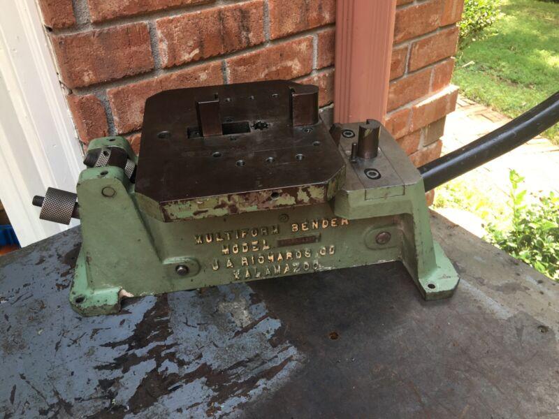 J.A. Richards Multiform Bender Model 5HDSB 4537, Metal Brake Bending Bender