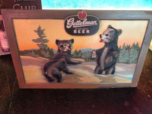 Vintage Gettelman Beer Composite Sign Bear Cubs
