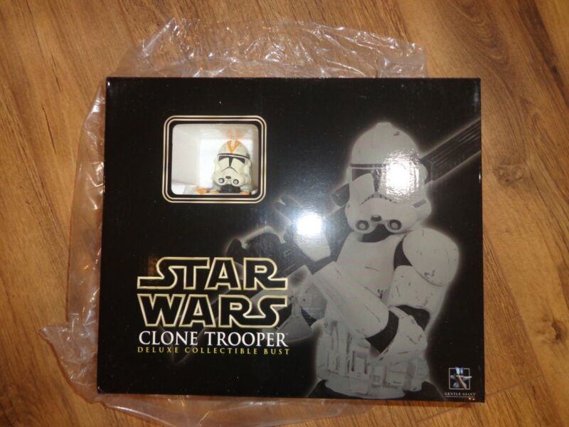 Star Wars Gentle Giant 2006 ROTS Utapau 212TH Clone Trooper Deluxe Mini Bust