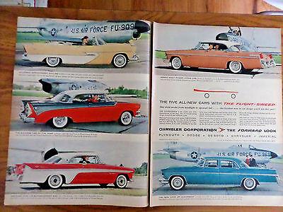 1956 Chrysler Ad Plymouth Dodge Lancer DeSoto Sportsman New Yorker Imperial